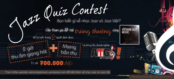 Jazz Quiz Contest by Vietnam Jazz Music 8/2013 Campaign Banner